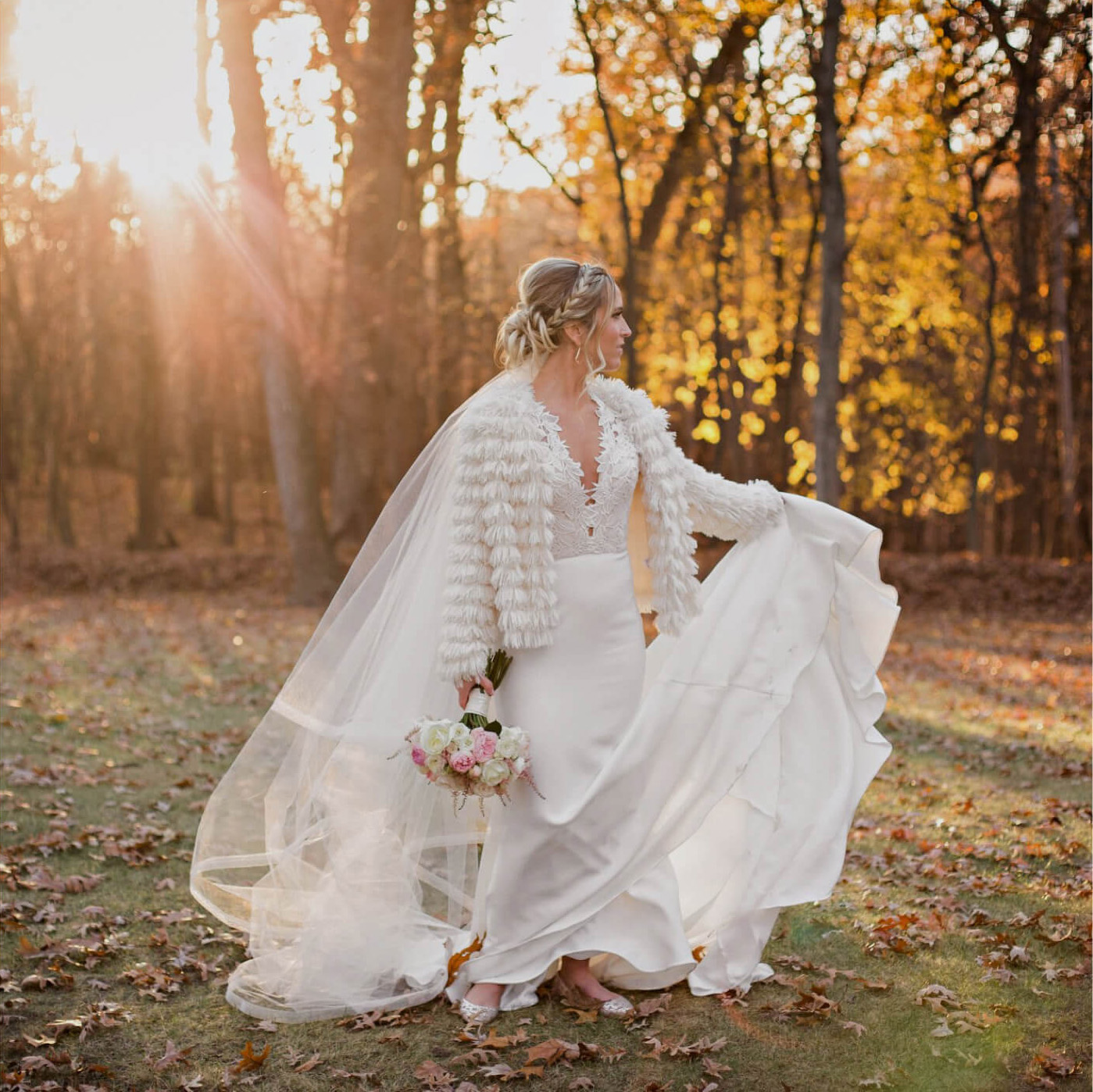 Photo of Bride in white gown
