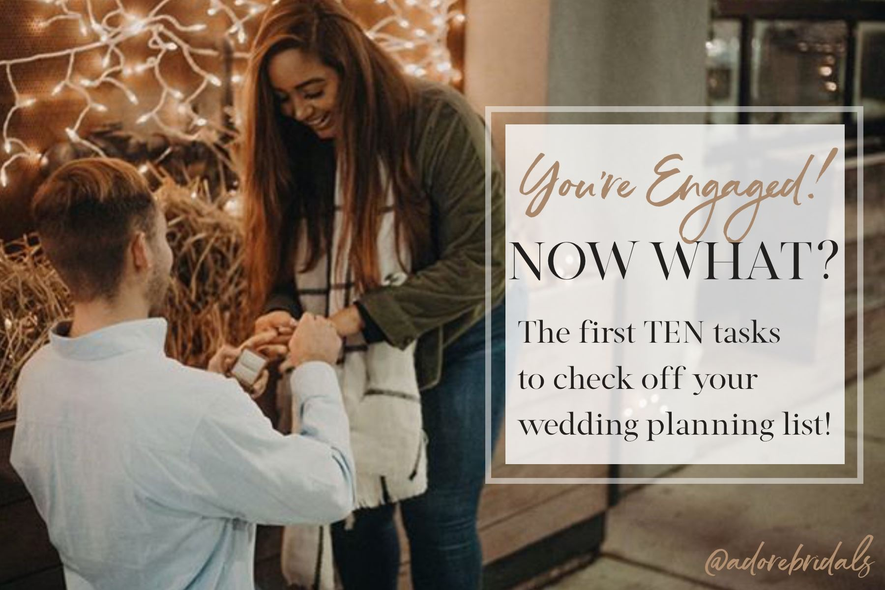 You're engaged, now what? The first 10 wedding planning tasks to check off your list!. Desktop Image