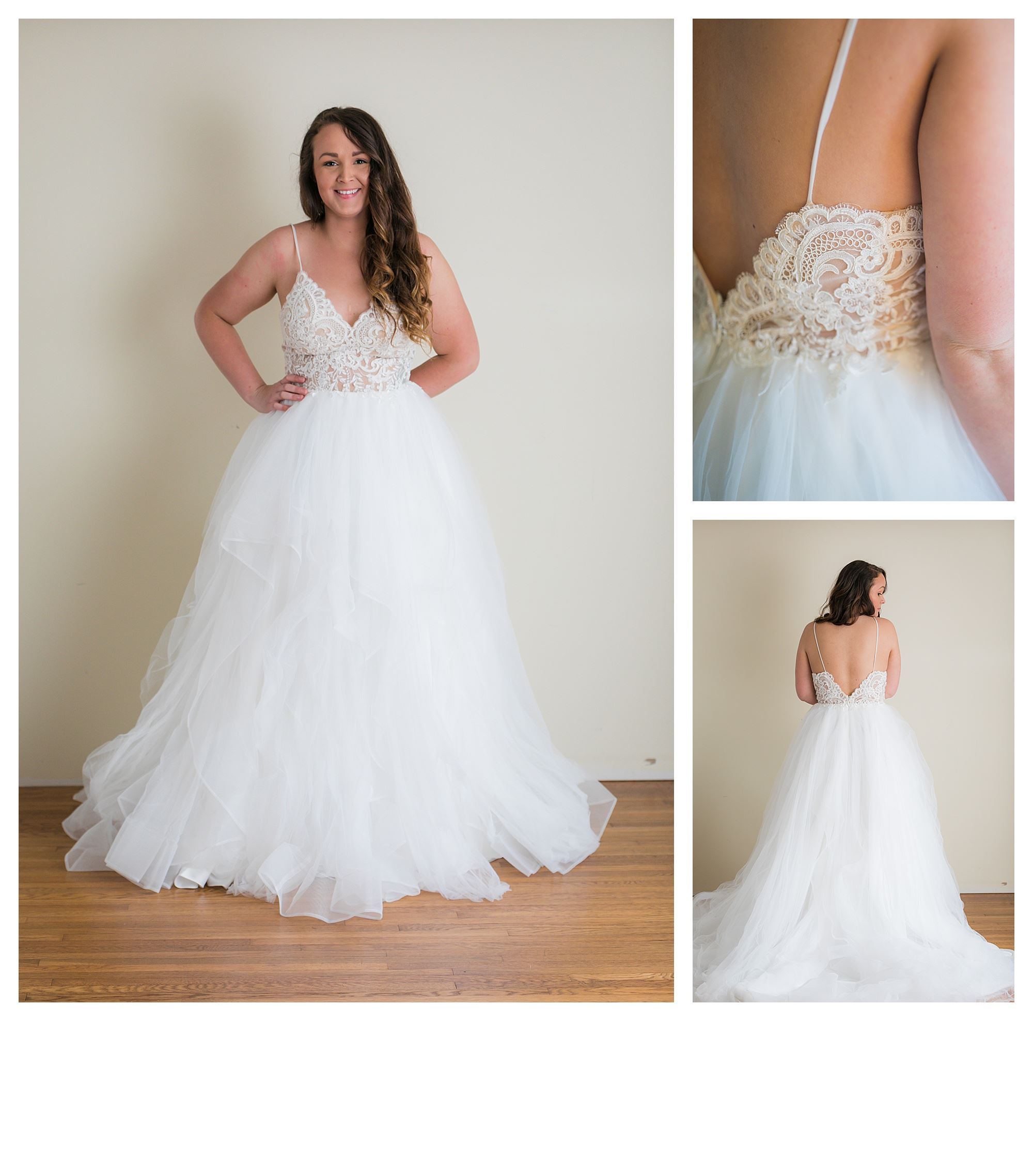 Samantha - Size 12 - Ivory/Lt Nude - Originally priced $1499 - Sample box price $999