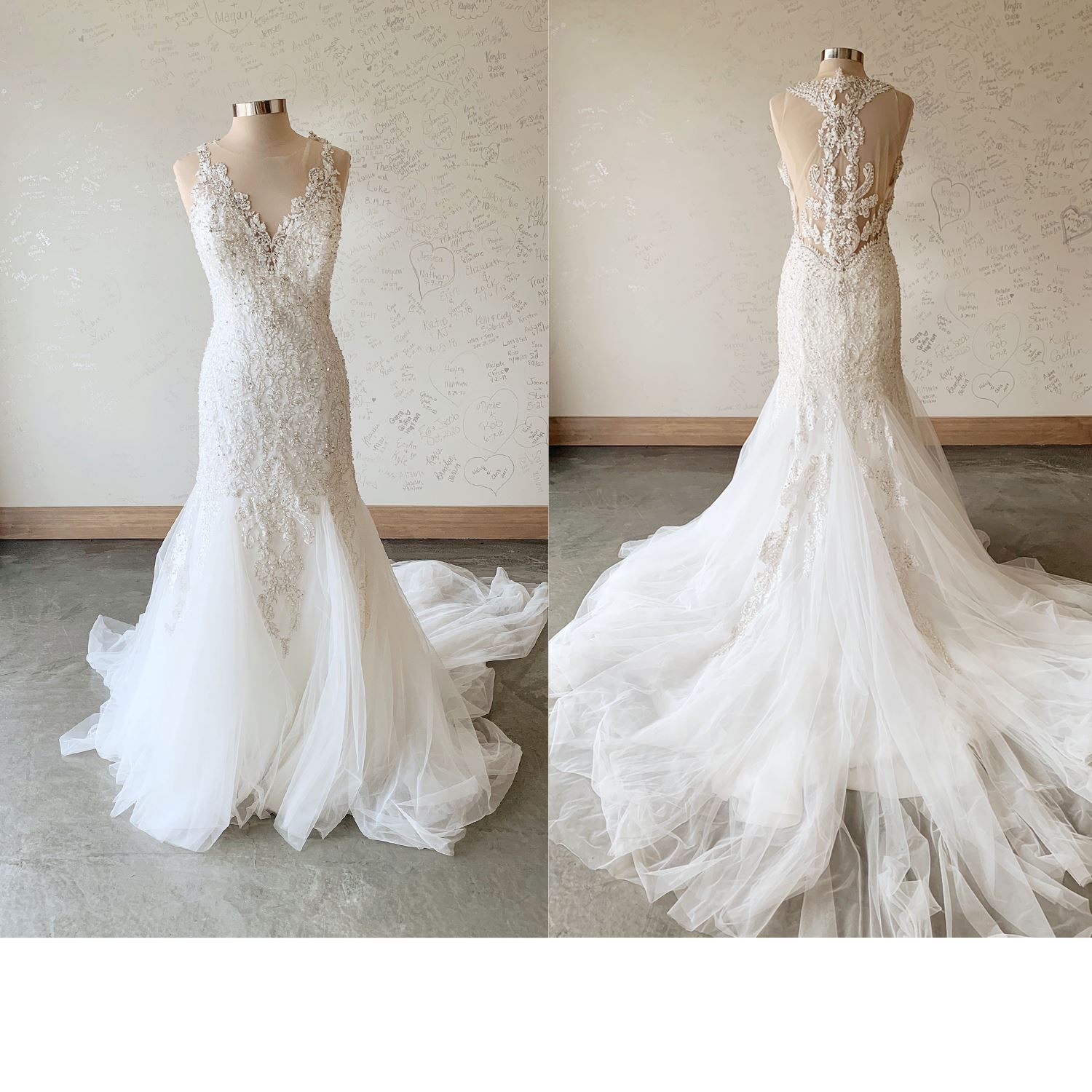 Ariana - Size 16 - Ivory - Originally priced $1499 - Sample box price $999