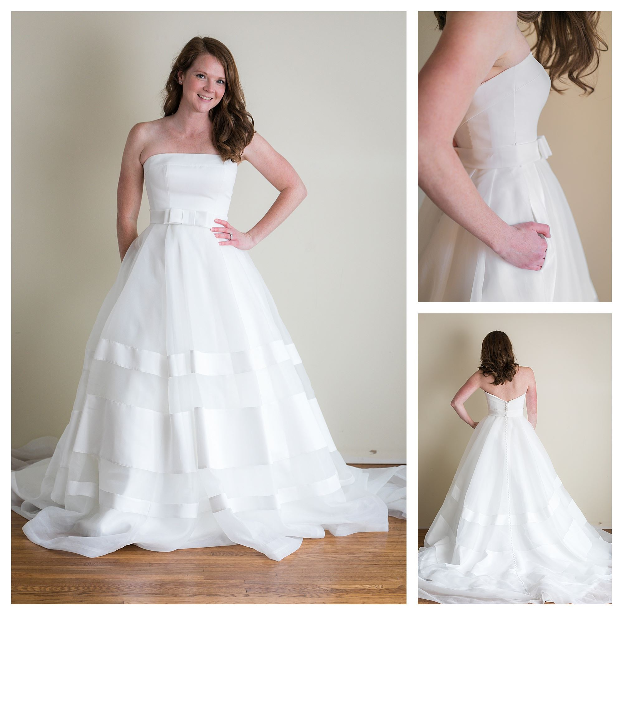 Skye - Size 8 - Ivory - Originally priced $1799 - Sample box price $1199