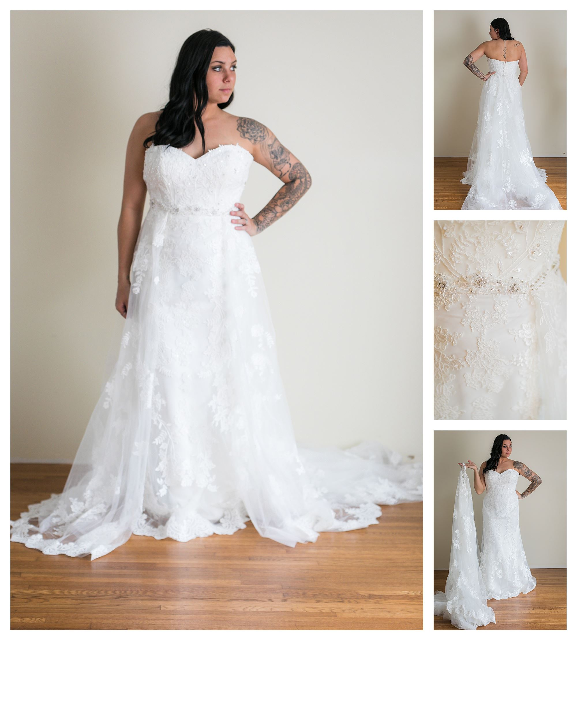 Salem - Size 14 - Ivory - Originally priced $2099 - Sample box price $1399