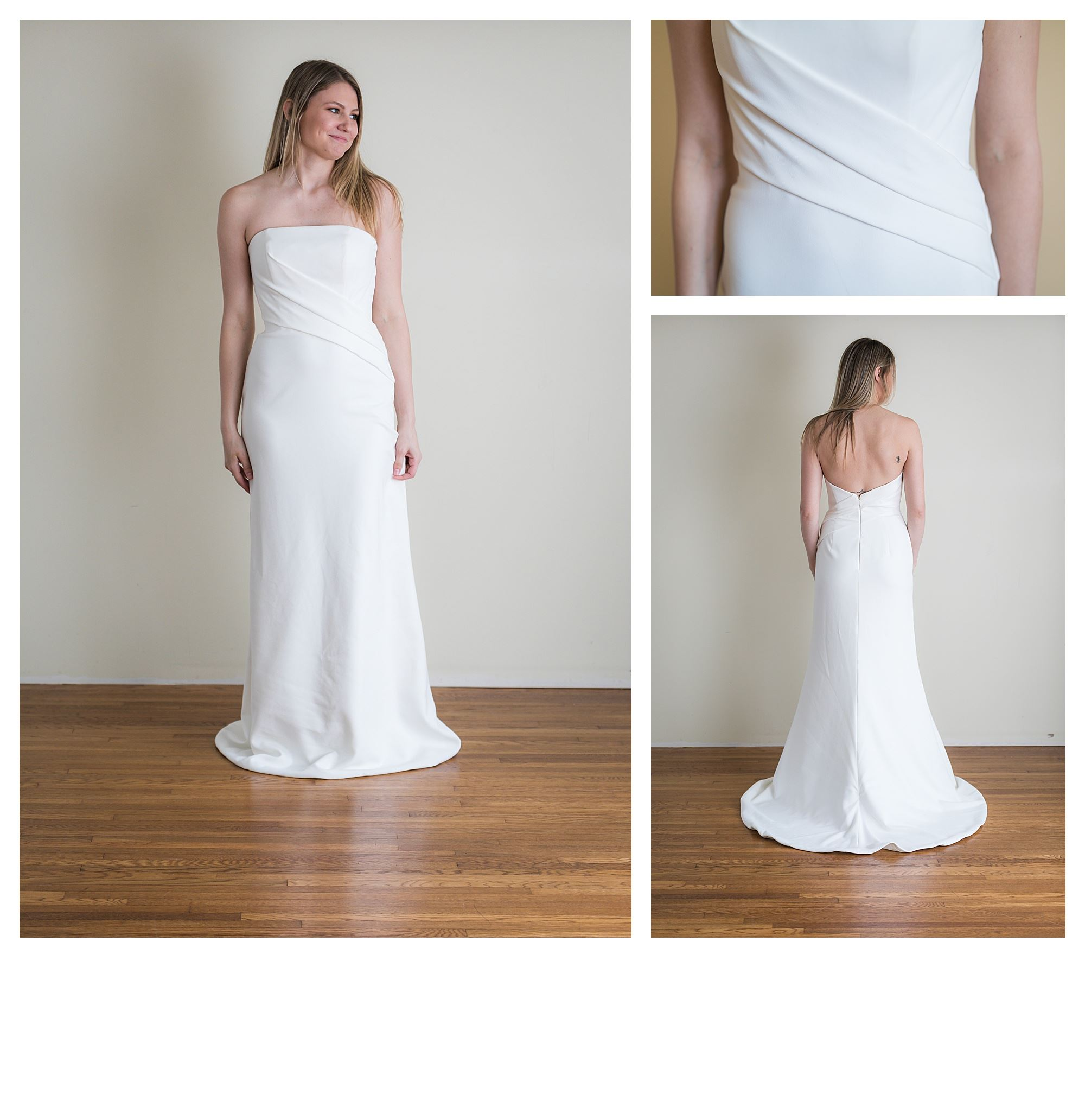 Saniyah - Size 10 - Ivory - Originally priced $2399 - Sample box price $1599