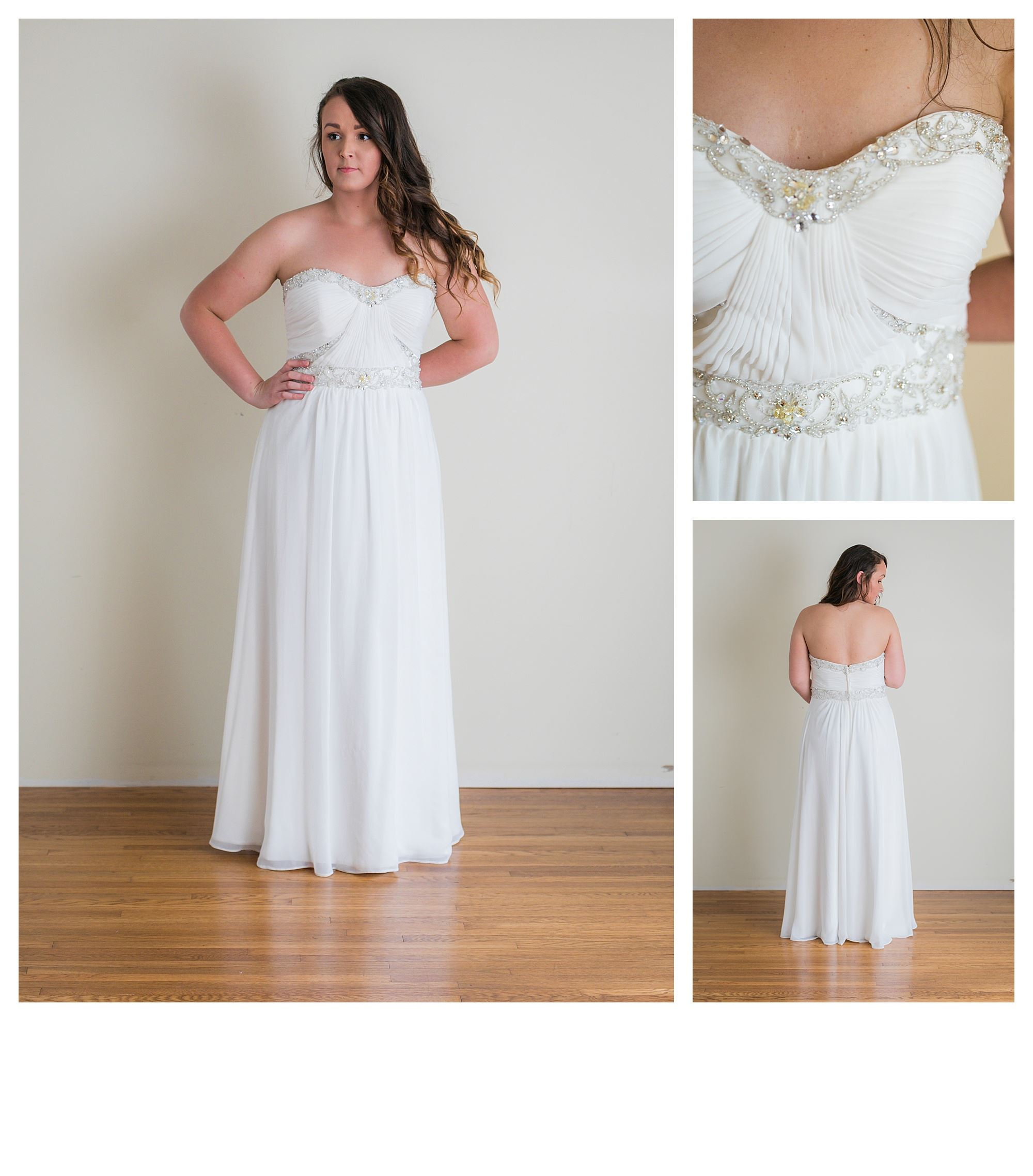 Shira - Size 16 - Ivory - Originally priced $999 - Sample box price $699