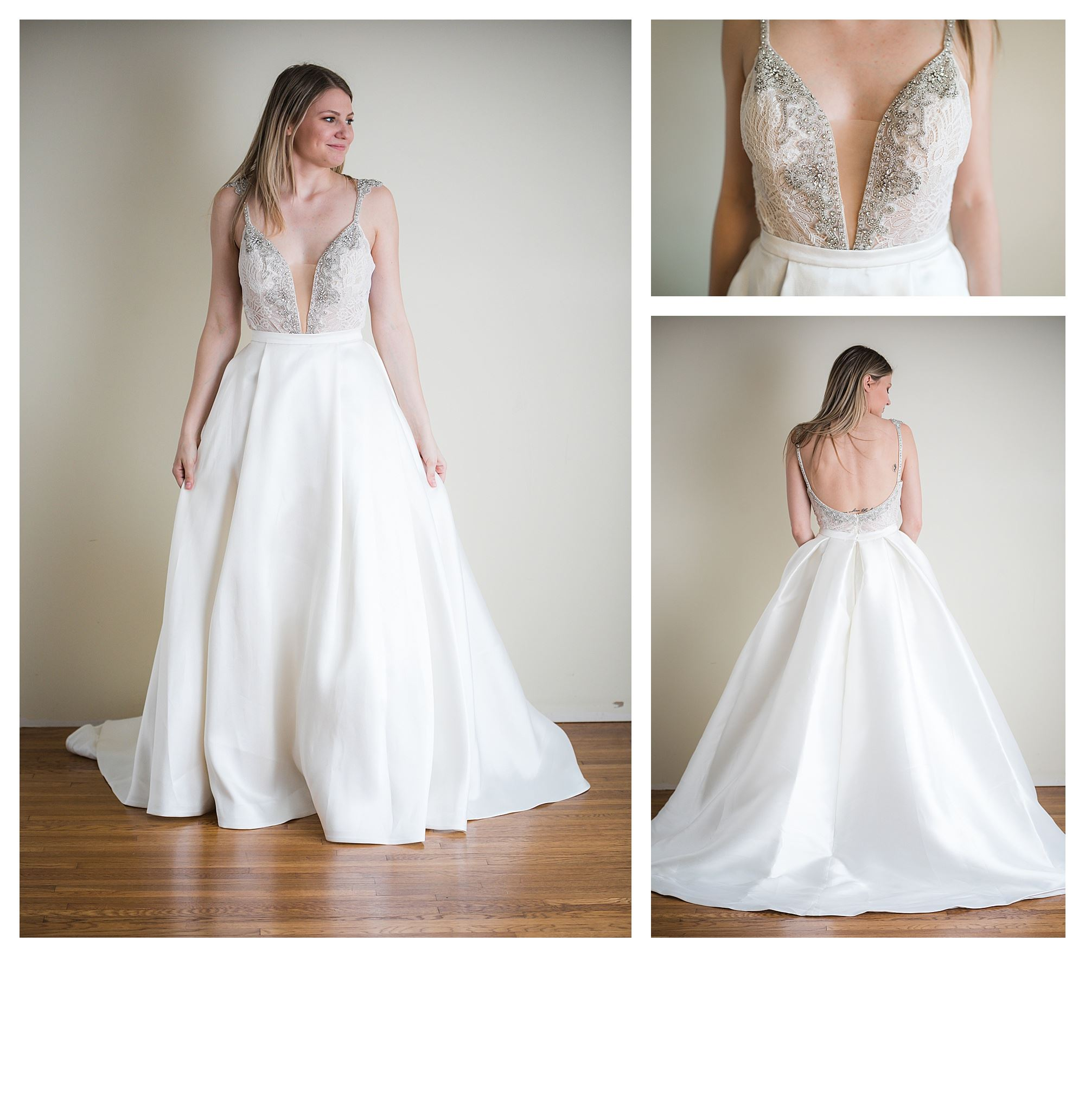 Sariah - Size 12 - Ivory/Nude - Originally priced $999 - Sample box price $699