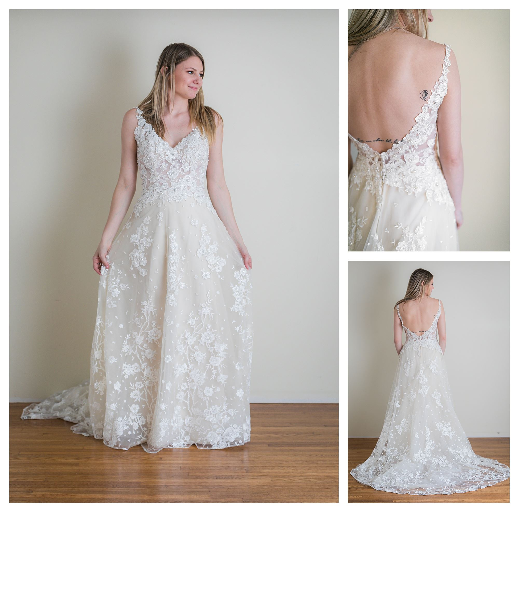 Shreya - Size 8 - Ivory/Vintage - Originally priced $2999 - Sample box price $1999
