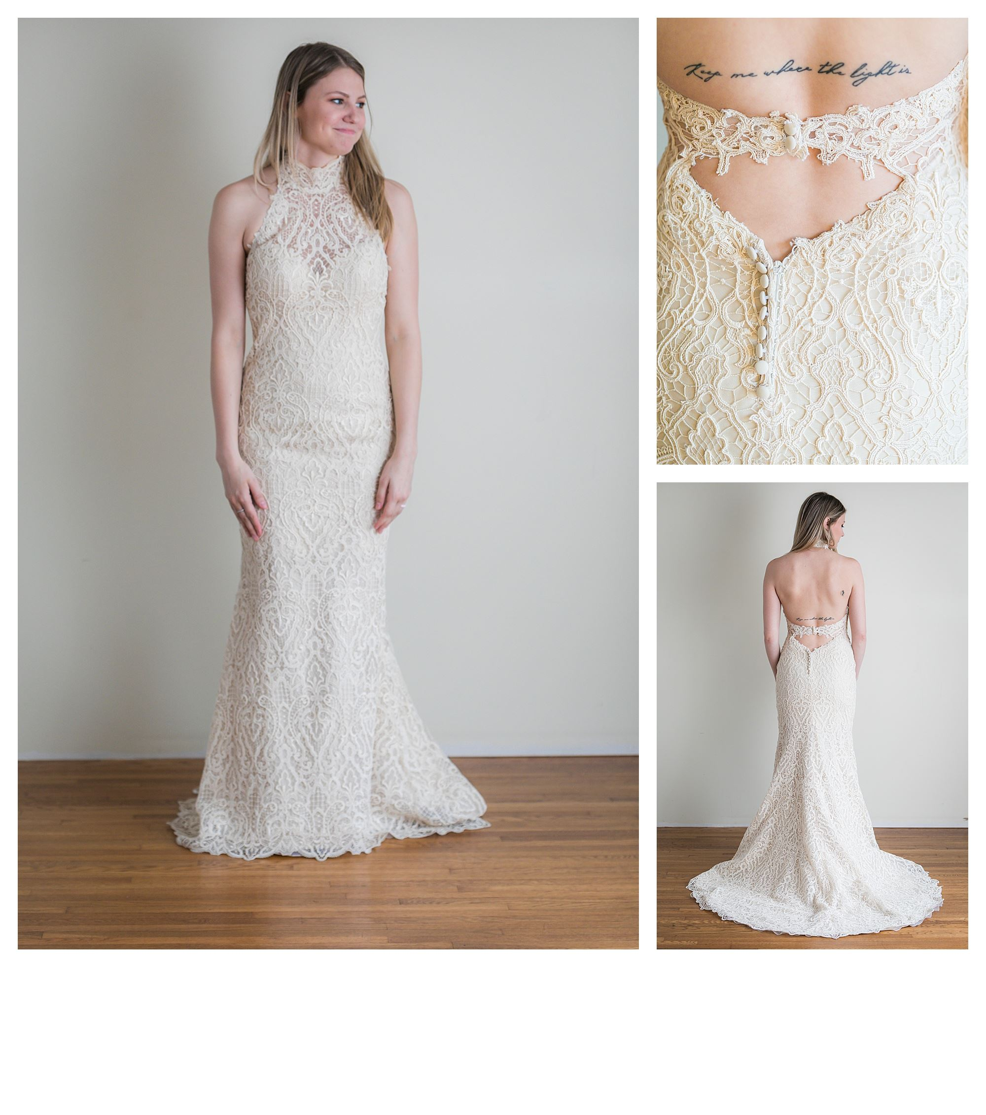 Sabine - Size 6 - Lt. Gold - Originally priced $3099 - Sample box price $1999