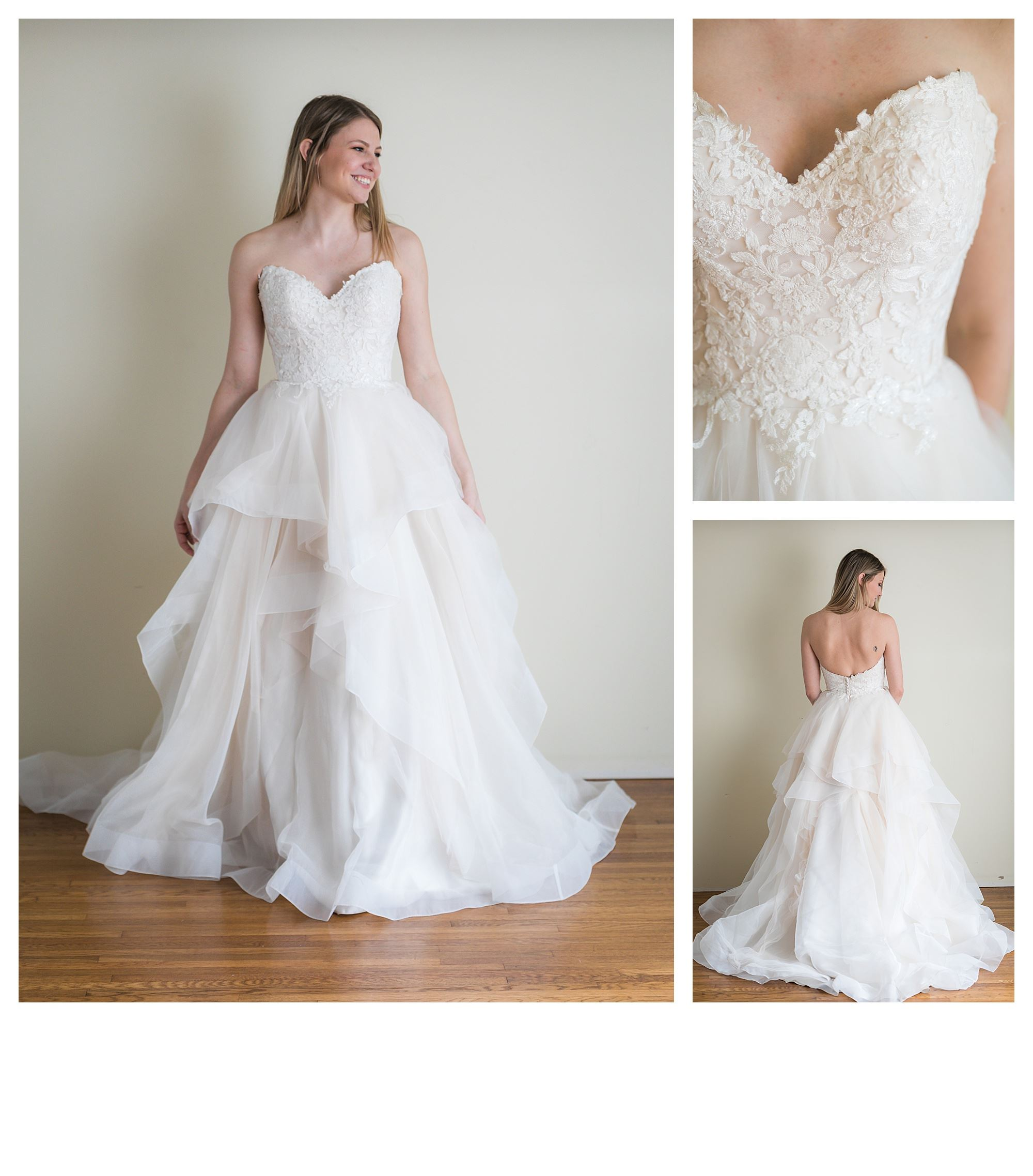 Sofie - Size 8 -Sand/Ivory - Originally priced $1299 - Sample box price $899