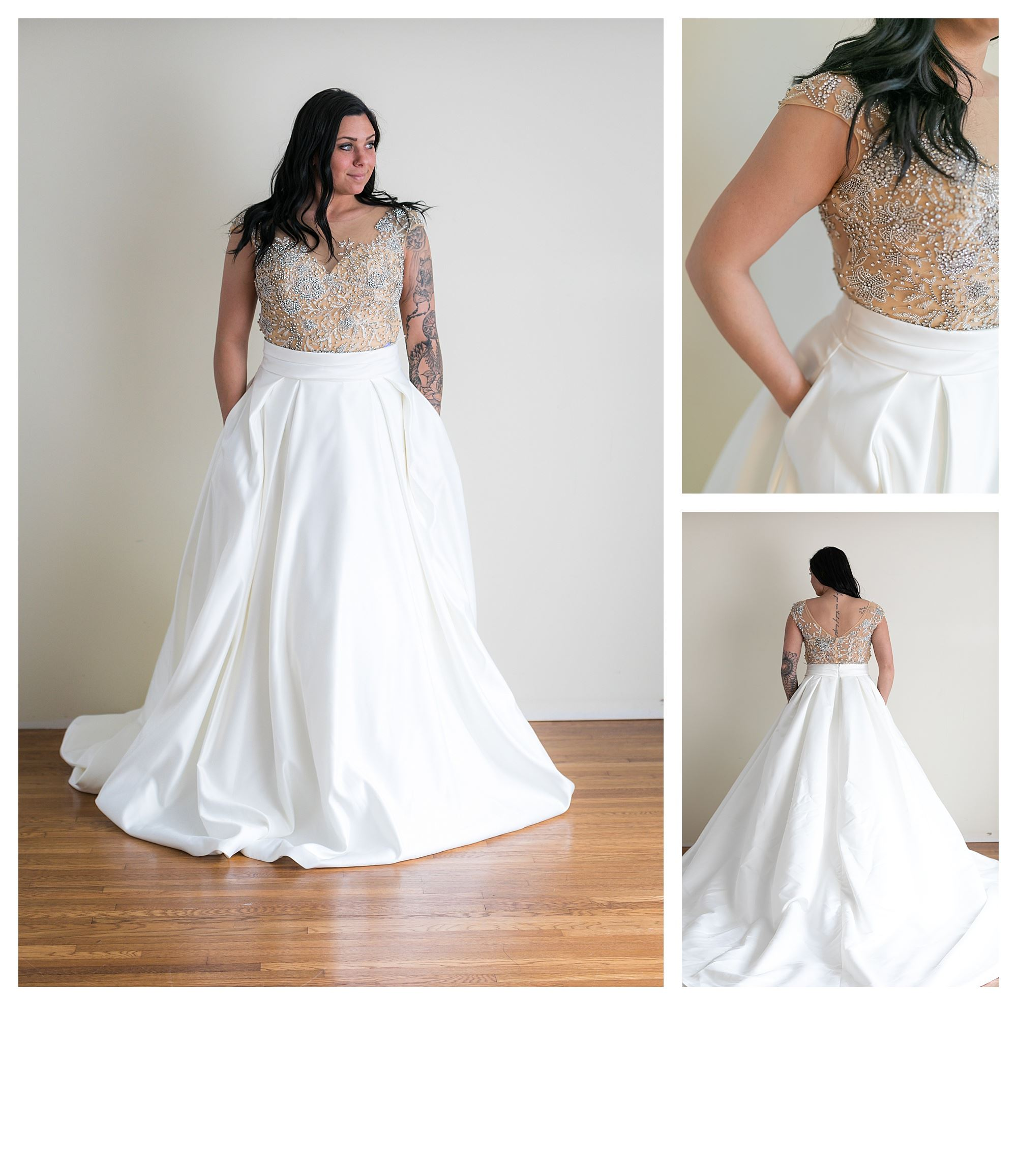 Shoshana - Size 12 - Ivory/Nude - Originally priced $1099 - Sample box price $799