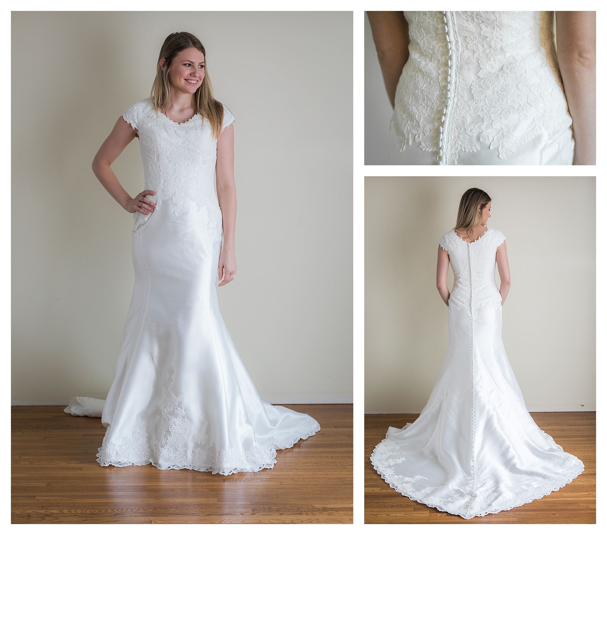 Serenity - Size 8 - Ivory - Originally priced $1999 - Sample box price $1399