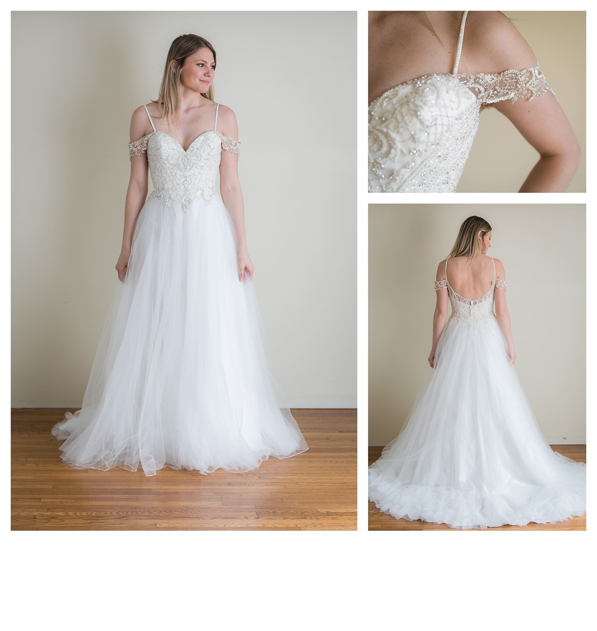 Shyanne - Size 10 - Ivory/Nude - Originally priced $2399 - Sample box price $1599