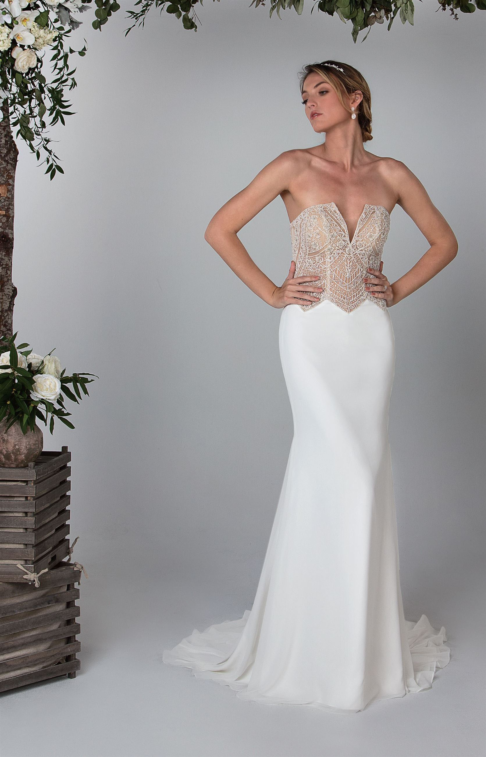 Morgan - Size 12 - Ivory/Nude - $1599 - Sample Price $899