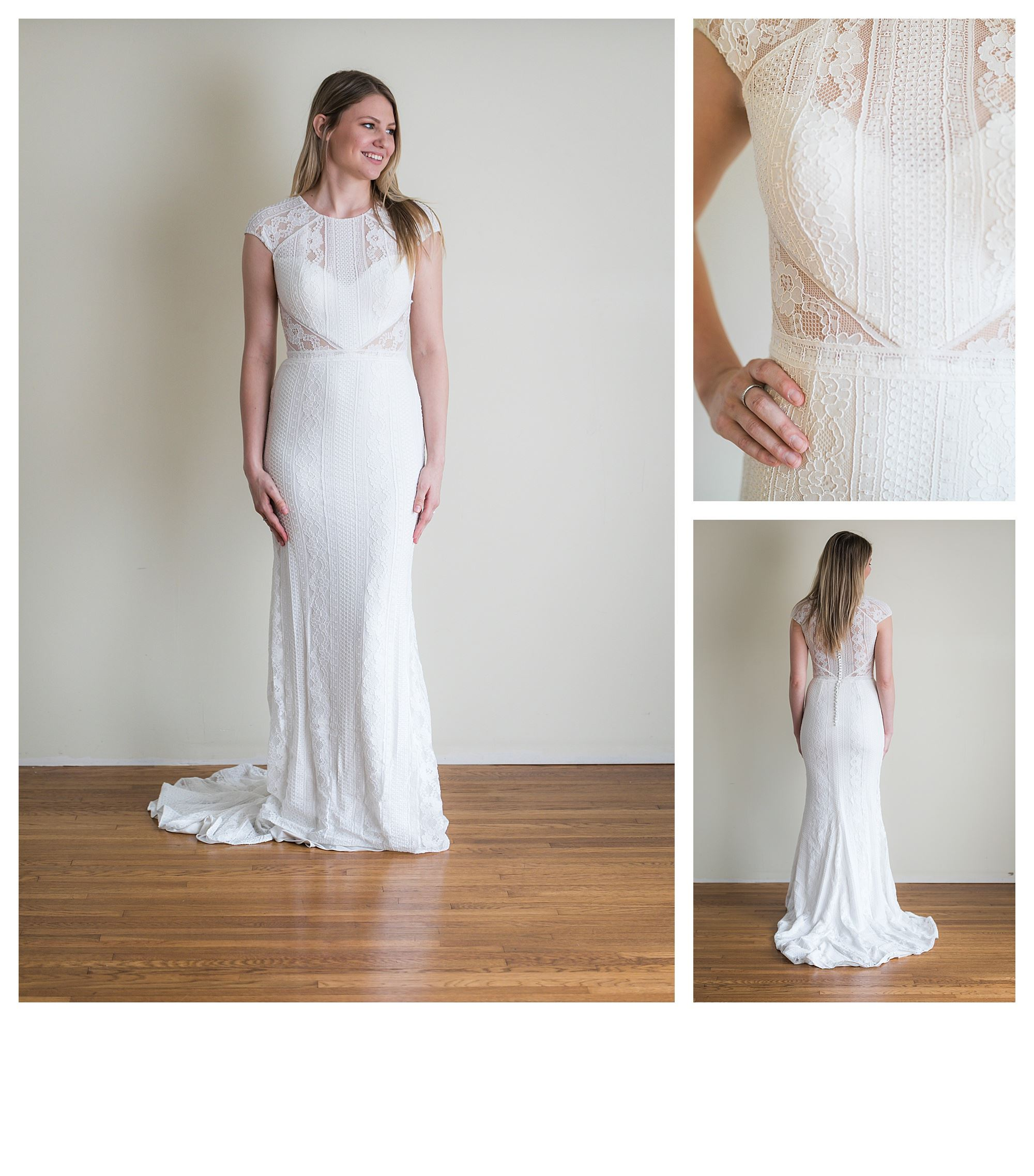 Sari - Size 6 - Sand/Ivory/Nude - Originally priced $1399 - Sample box price $999