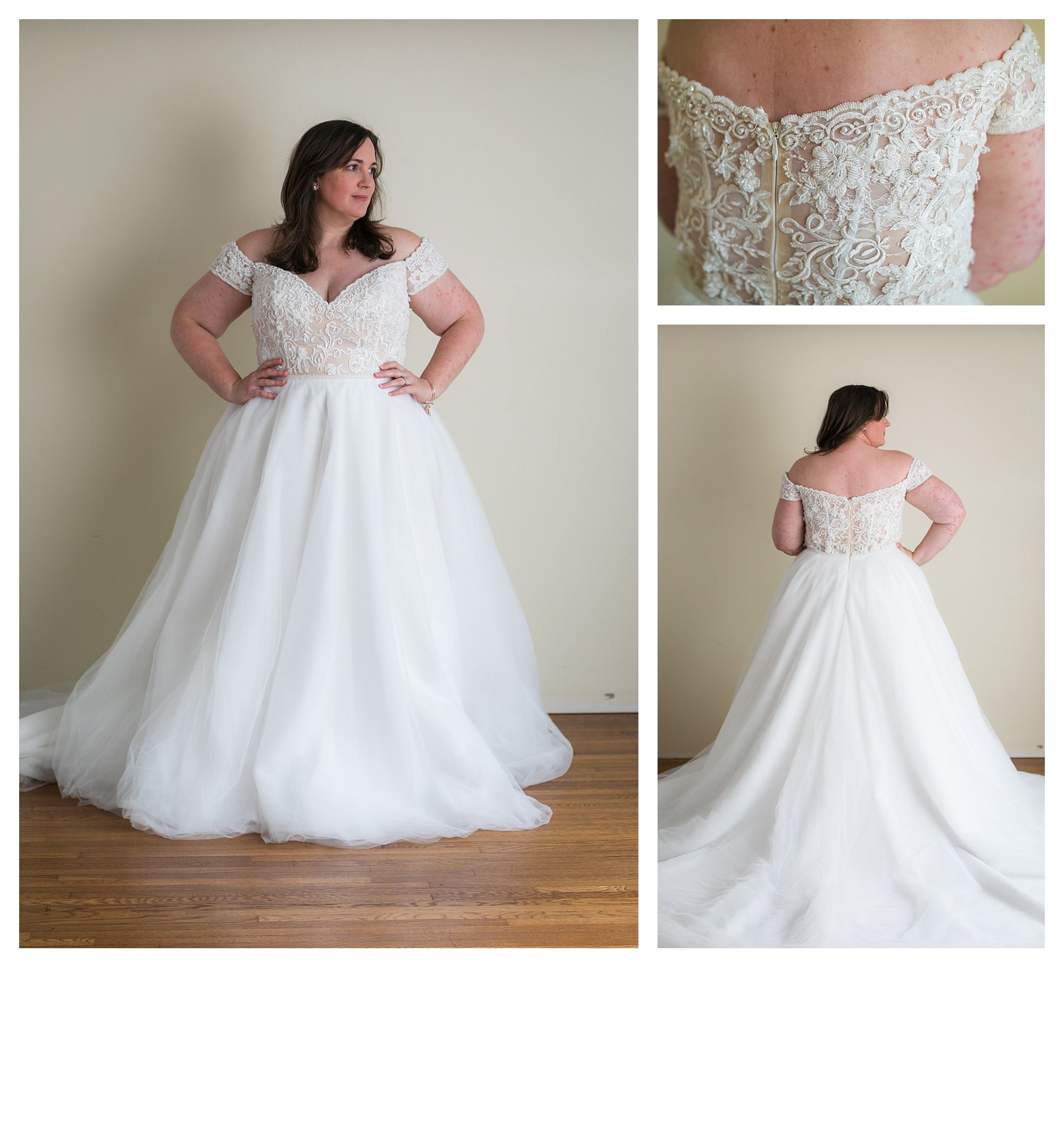 Sofia - Size 20 - Ivory/Lt Nude - Originally priced $1699 - Sample box price $1199