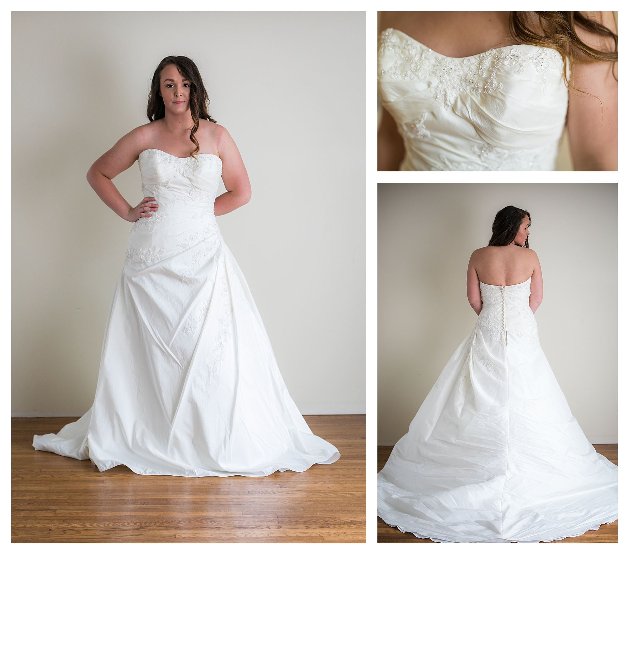 Saira - Size 12 - Ivory - Originally priced $999 - Sample box price $699