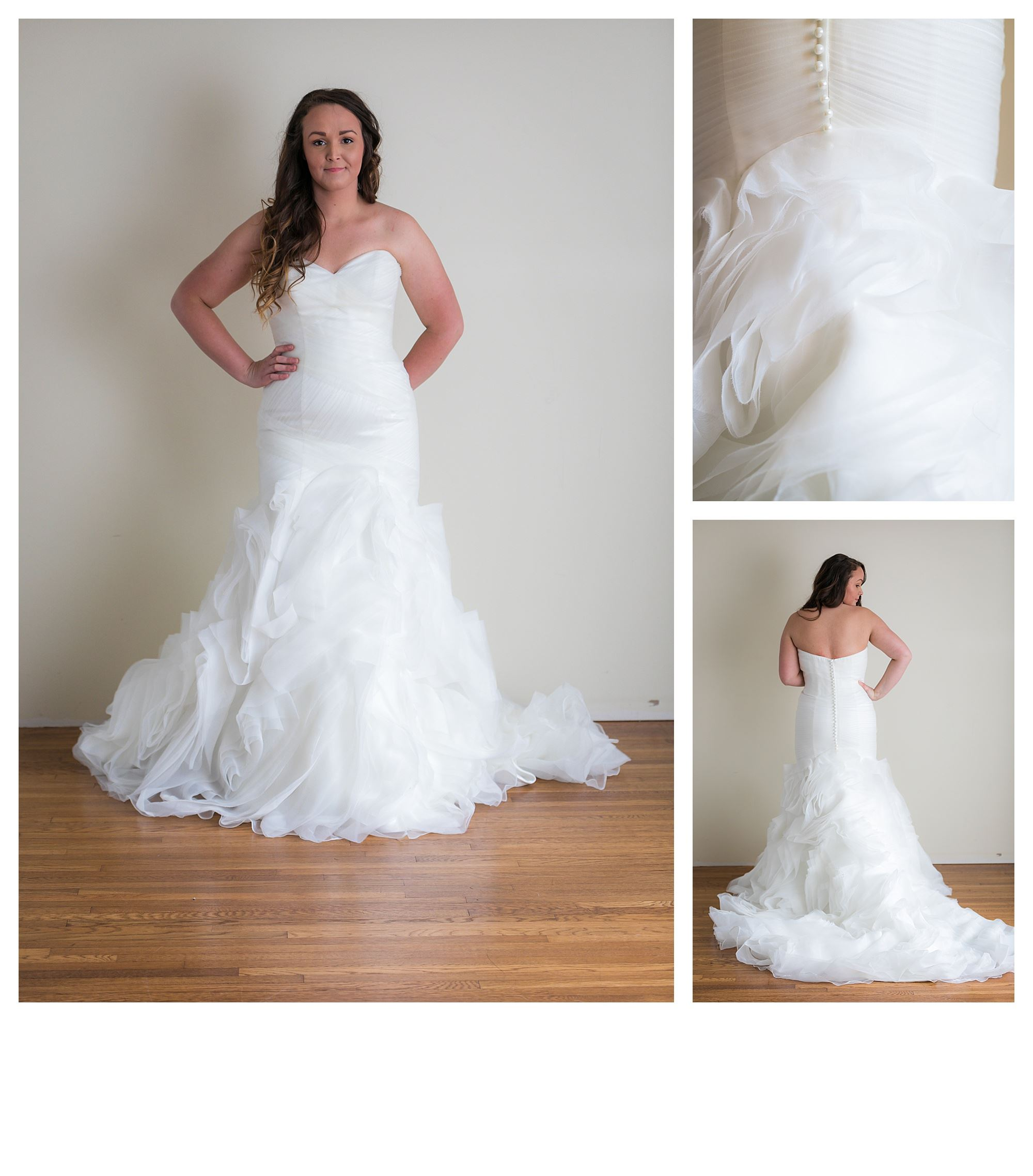 Shelly - Size 12 - Ivory - Originally priced $1499 - Sample box price $999