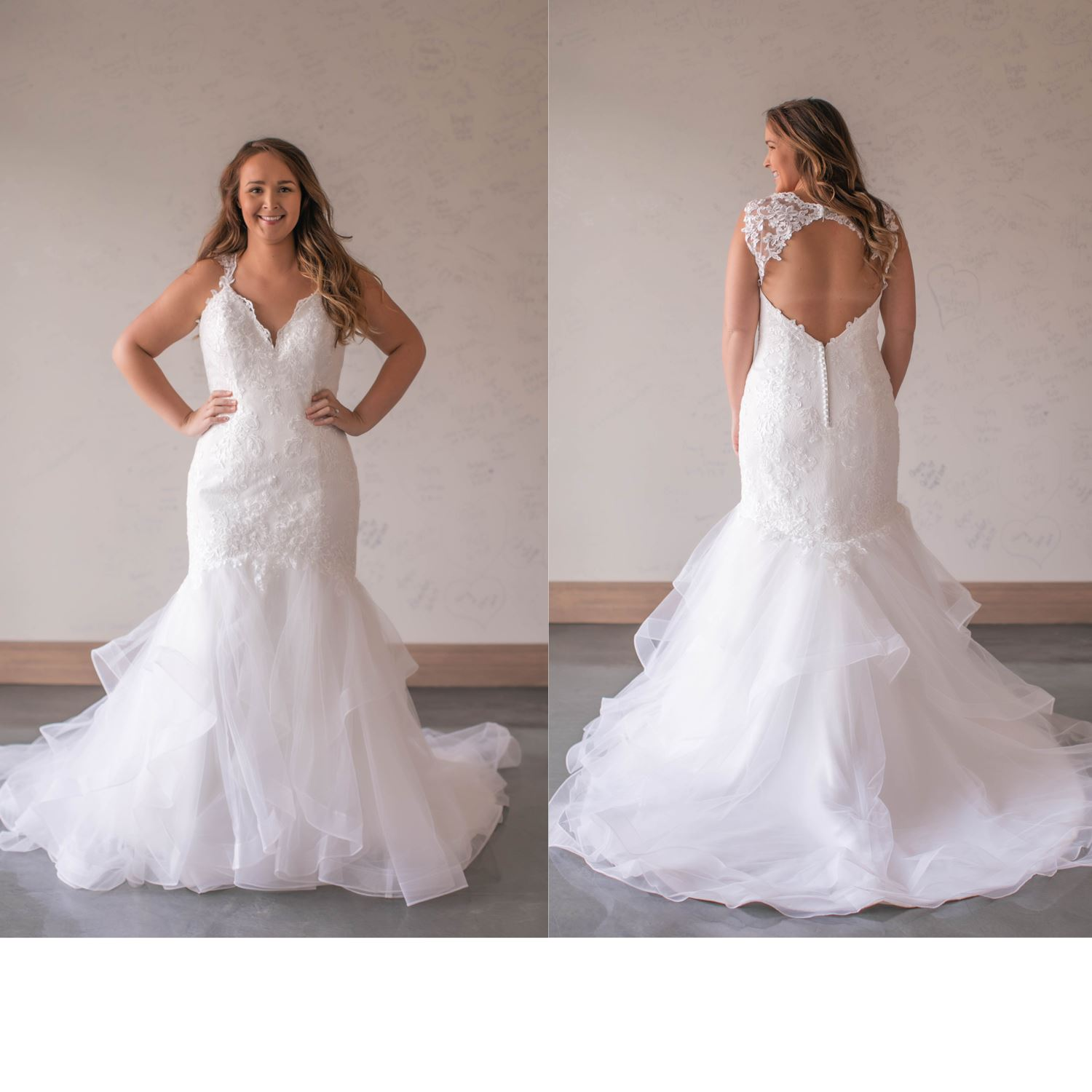 Layla - Size 14 - Ivory - Originally priced $999 - Sample box price $799