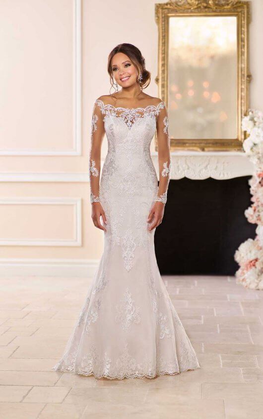 Georgette - Size 12 - Ivory/Almond - $1499 - Sample Price $1199