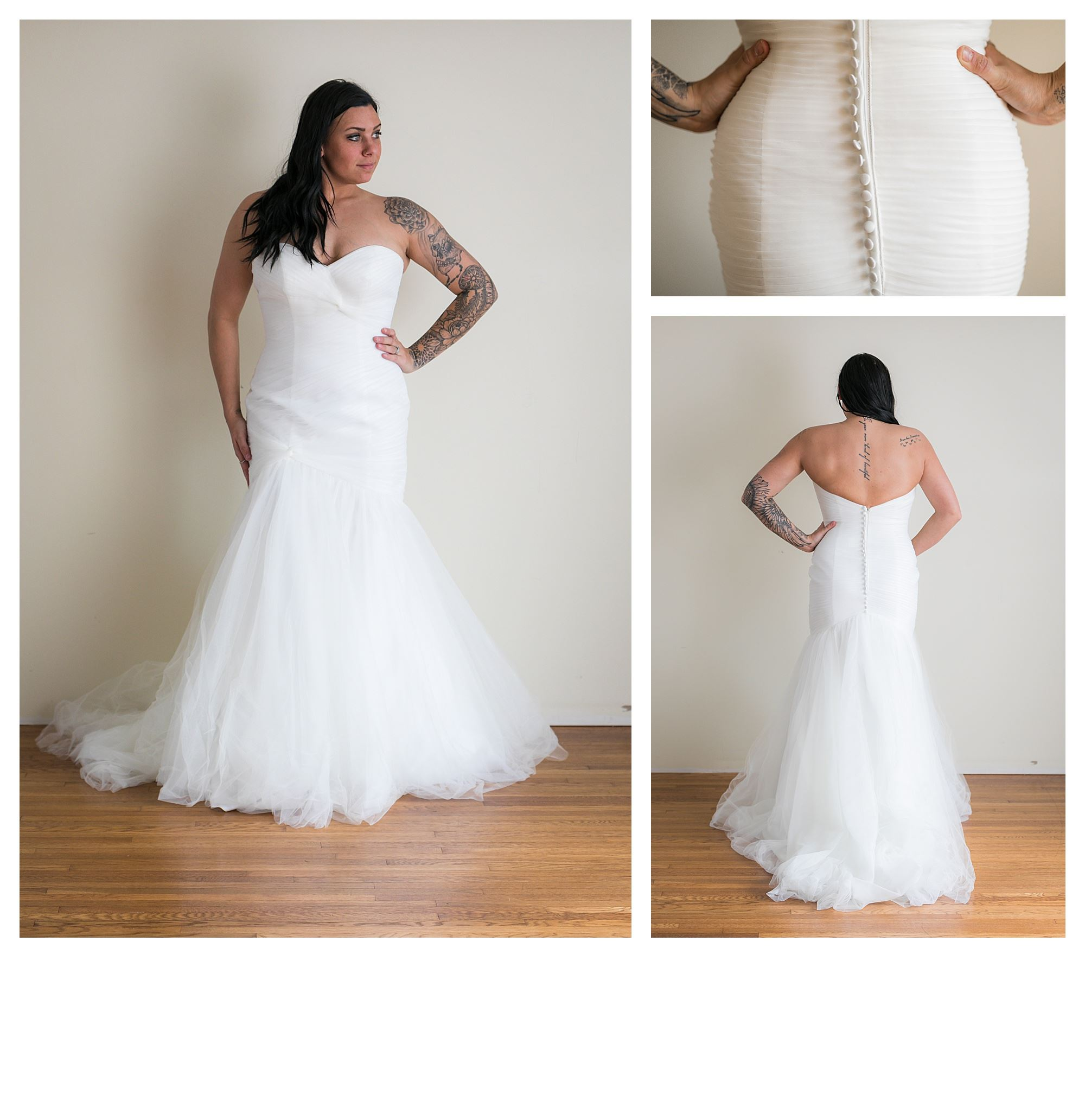Soraya - Size 12 - Ivory - Originally priced $999 - Sample box price $699