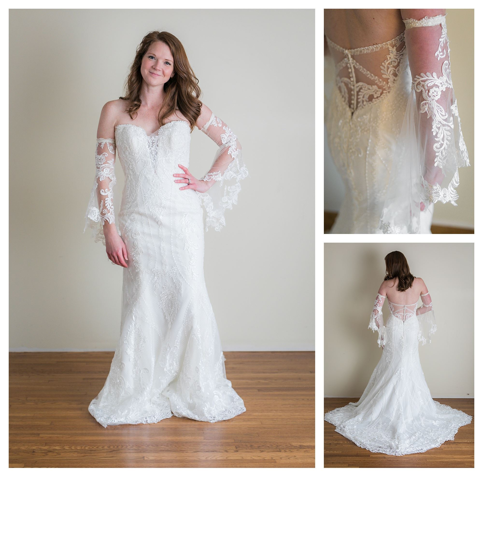 Sandra - Size 8 - Ivory - Originally priced $2199 - Sample box price $1499