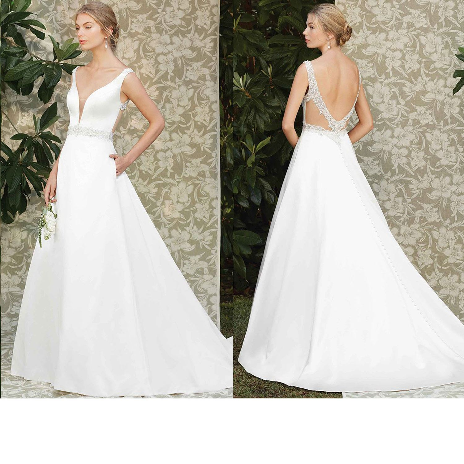 Charlotte - Size 12 - Ivory - Originally priced $1599 - Sample box price $999