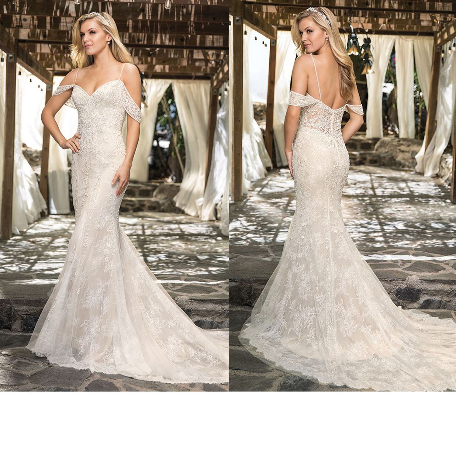 Cecilia - Size 14 - Ivory/Nude/Silver - Originally priced $2099 - Sample box price $1799