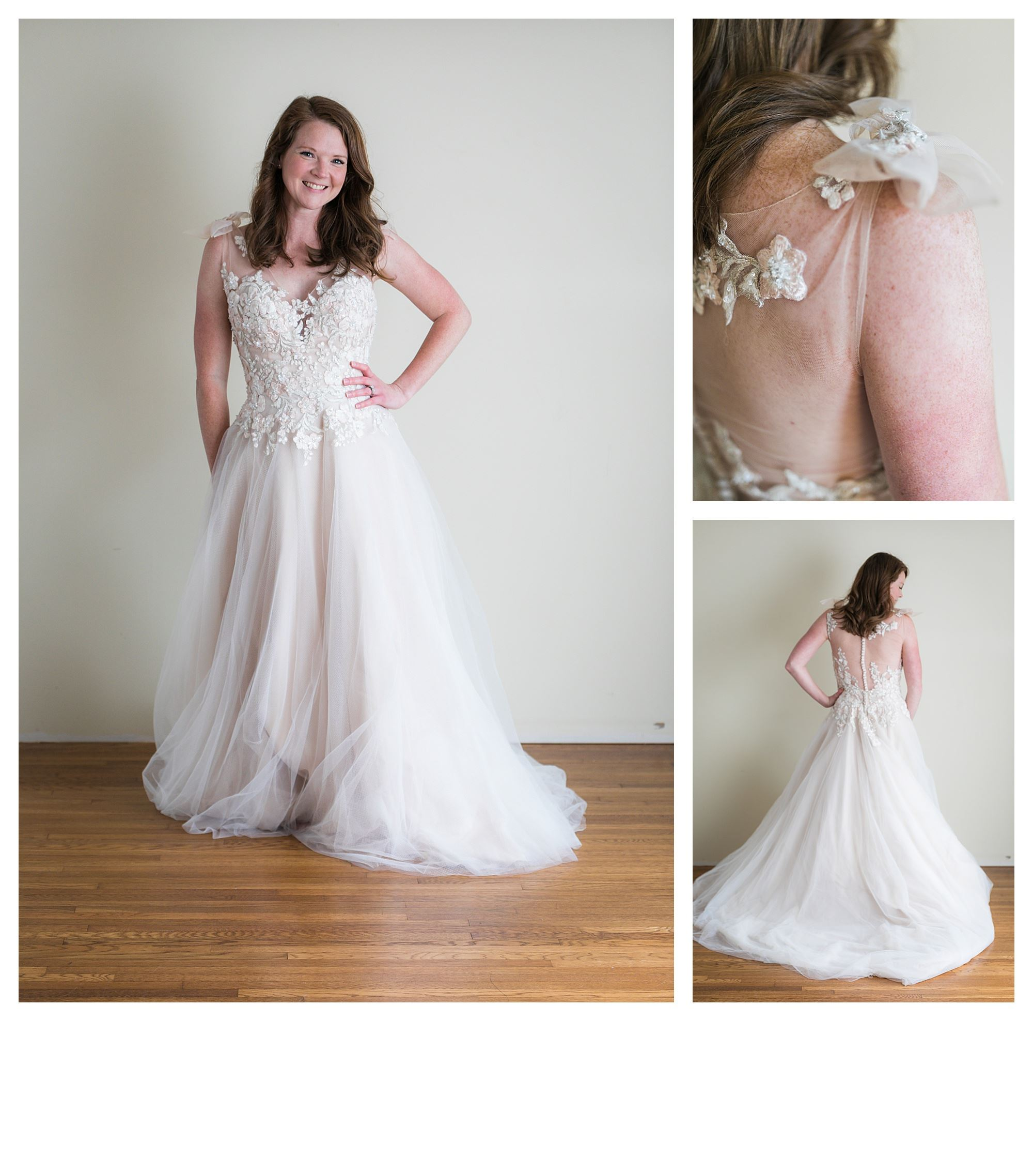 Stormy - Size 12 - Ivory/Lt. Blush - Originally priced $1599 - Sample box price $1099