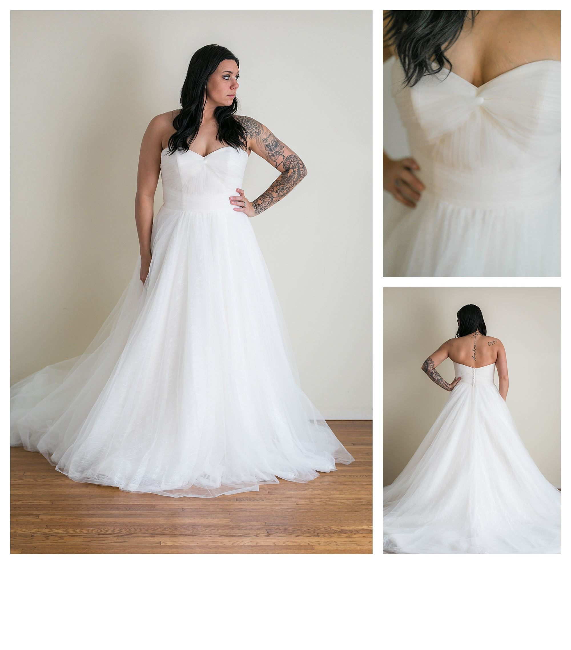 Sabrina - Size 14 - Ivory/Blush Pink - Originally priced $1299 - Sample box price $899