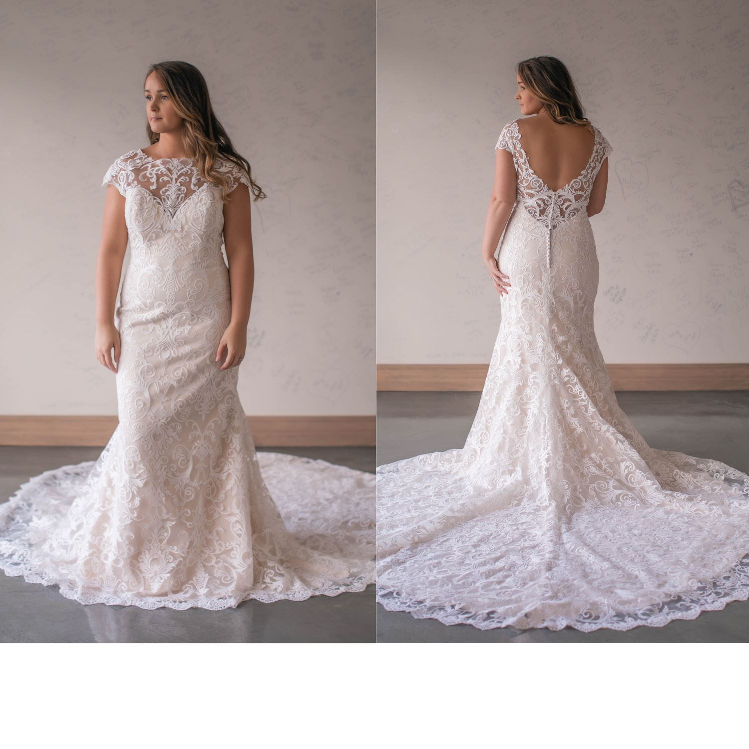 Margret - Size 16 - Ivory/Lt Nude - Originally priced $1699 - Sample box price $1499