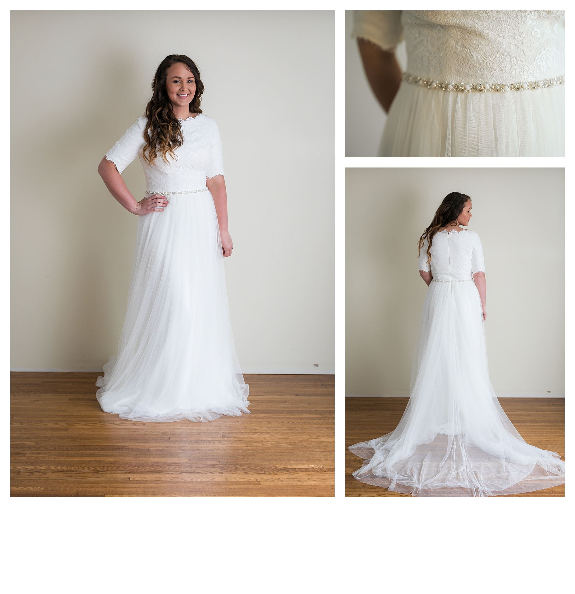 Sloane - Size 10 - Ivory - Originally priced $1199 - Sample box price $799