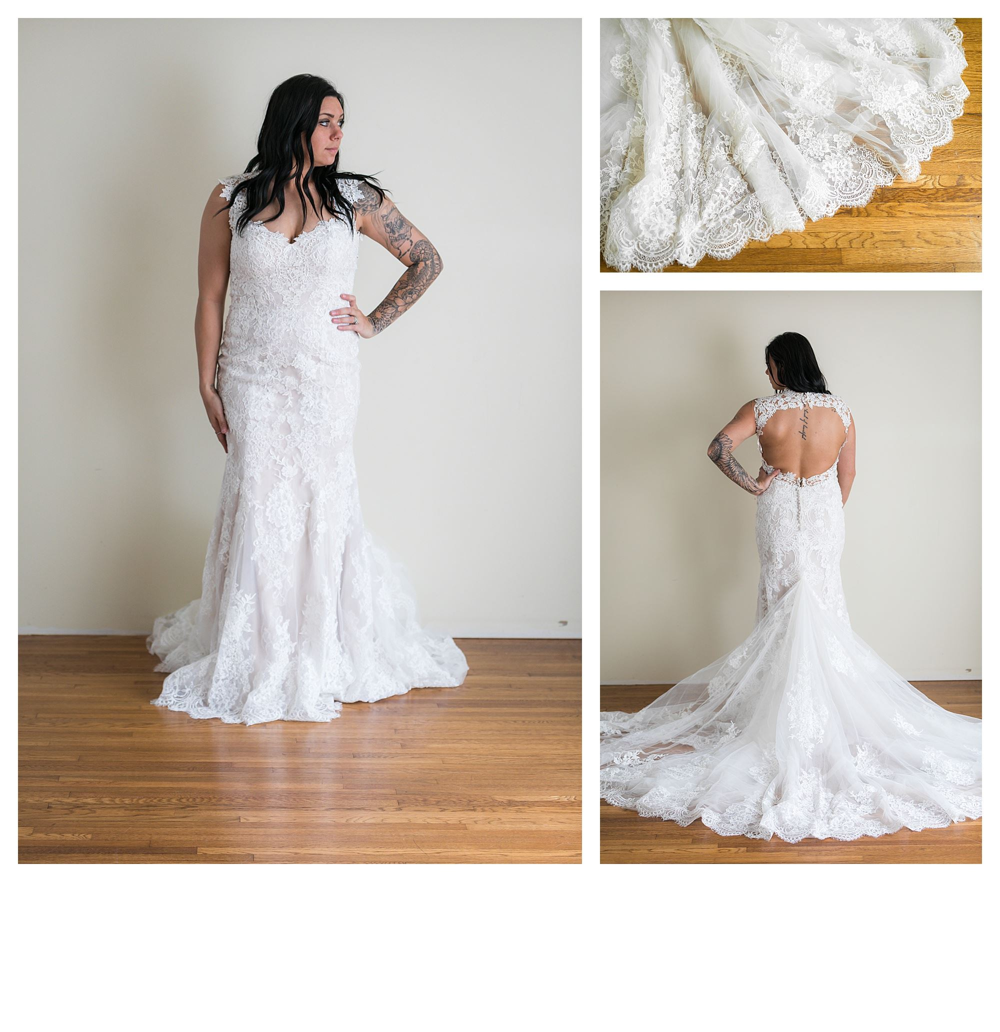 Shaylee - Size 12 - Nude/Ivory - Originally priced $2399 - Sample box price $1599