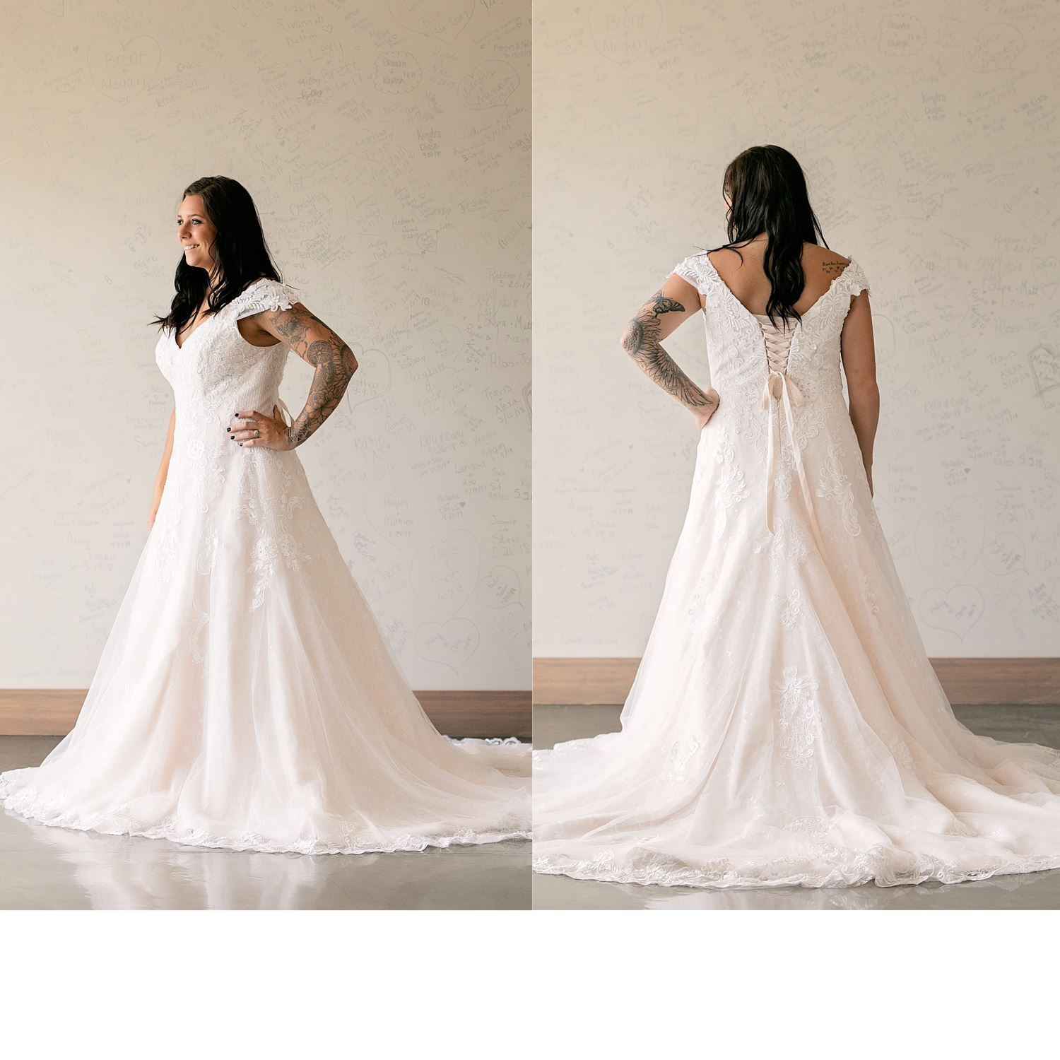 Darcy - Size 18 - Ivory/Champagne - Originally priced $1199 - Sample box price $999