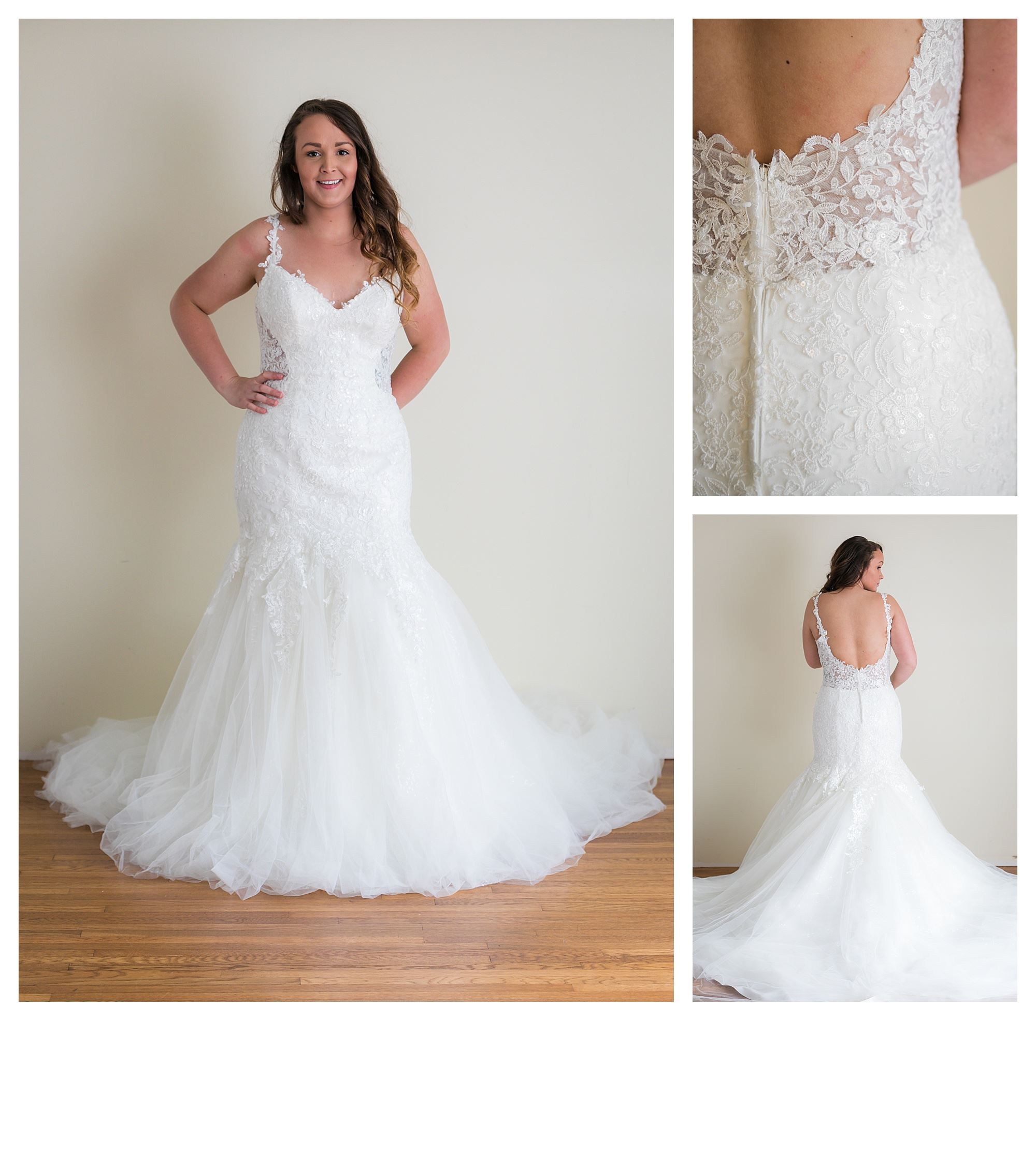 Samara - Size 12 - Ivory - Originally priced $1799 - Sample box price $1199