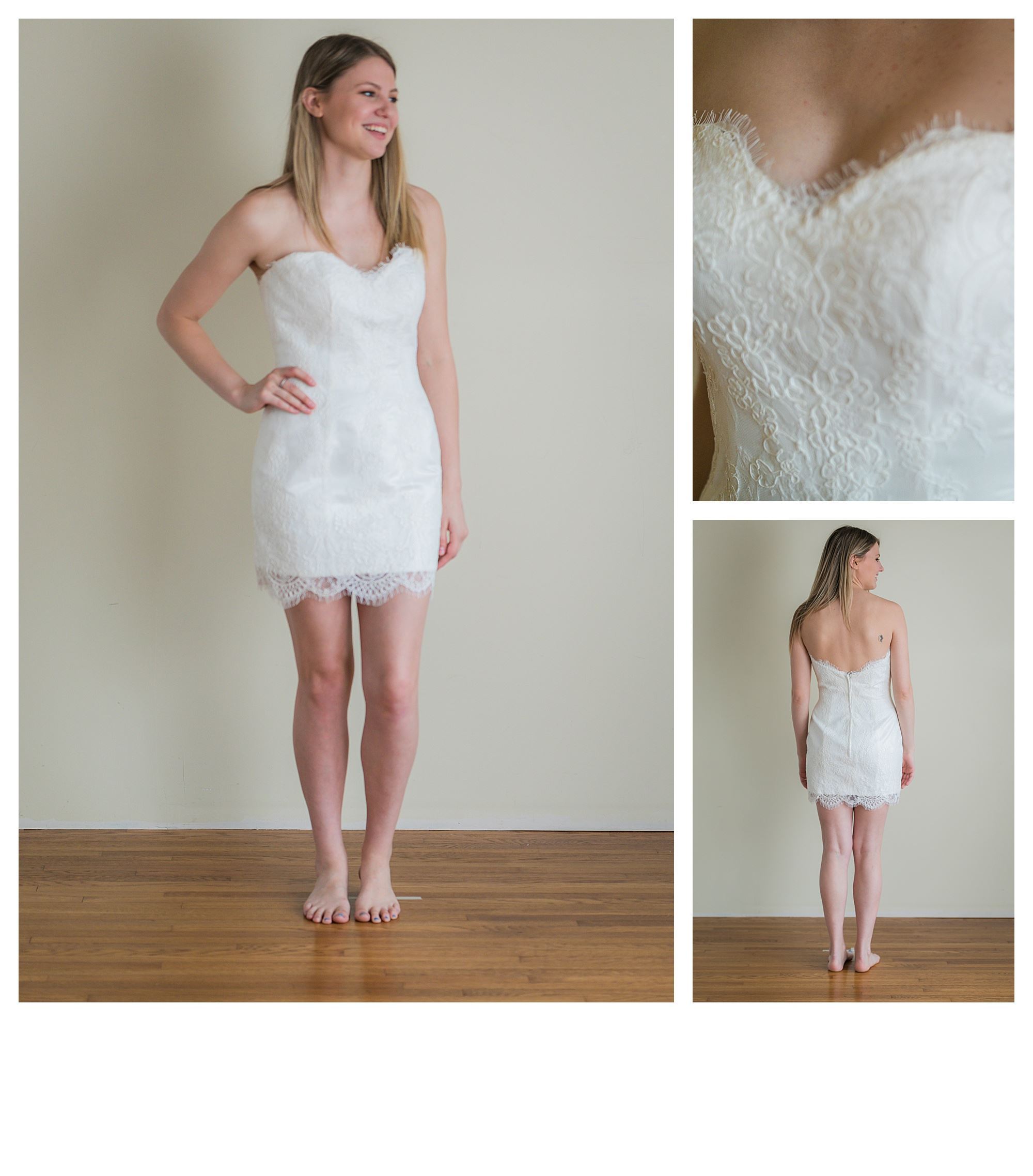 Sarabella - Size 10 - Ivory - Originally priced $999 - Sample box price $699