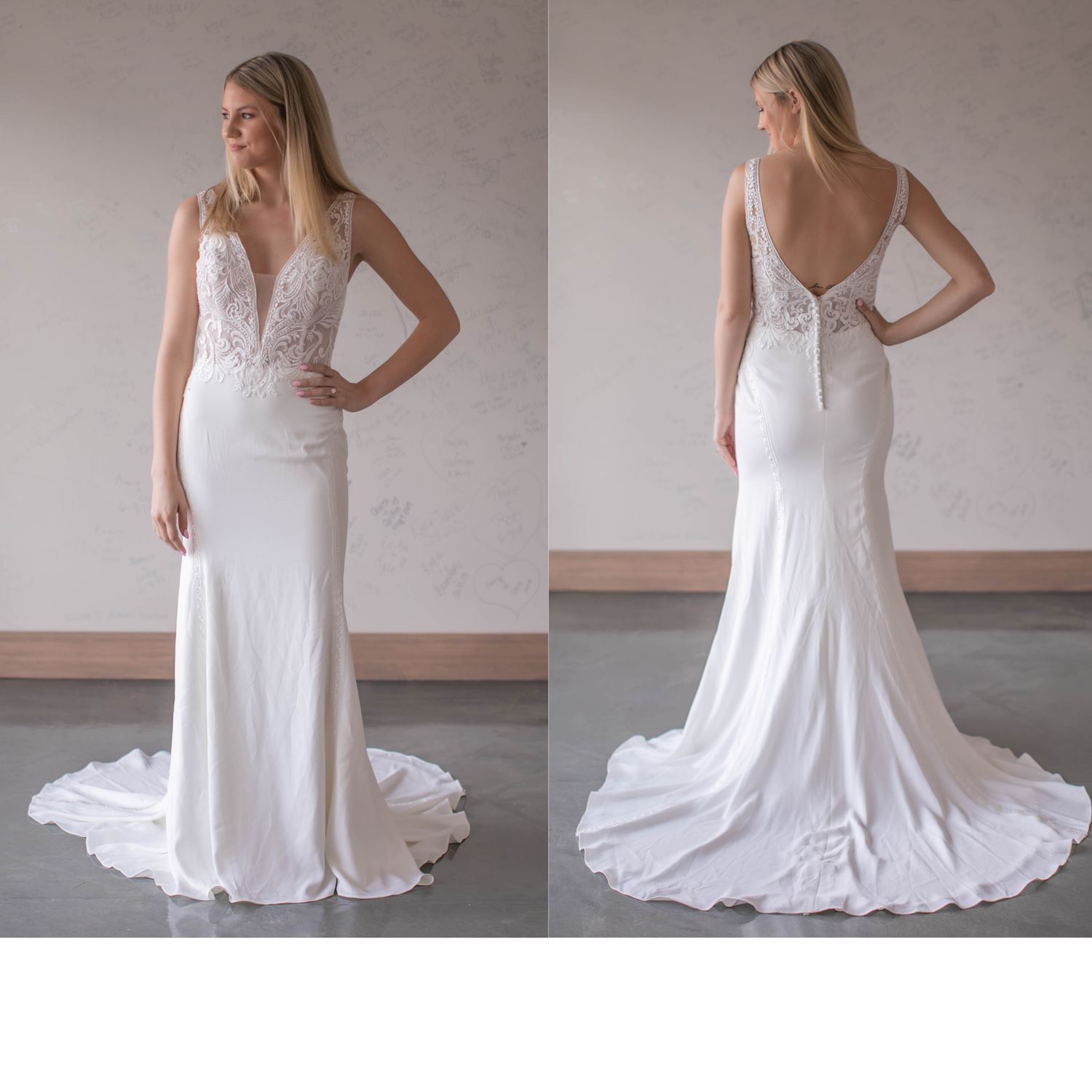 Melanie - Size 14 - Ivory/Nude - Originally priced $1699 - Sample box price $1499