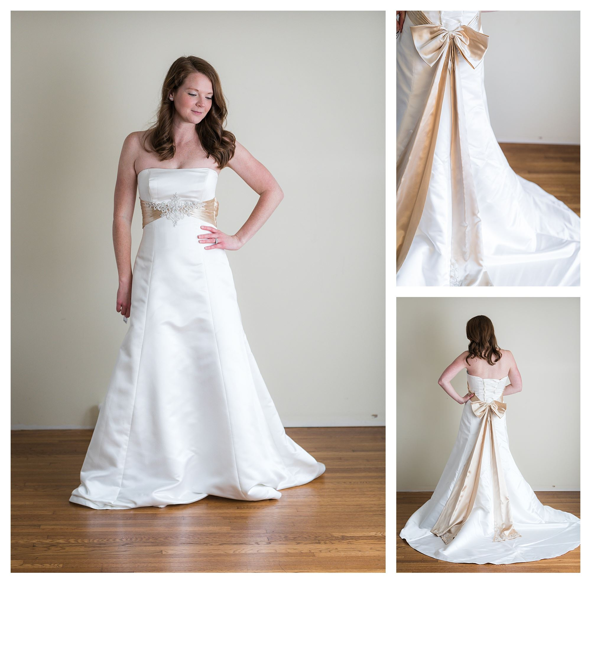 Sonja - Size 12 - Ivory/Lt Gold - Originally priced $999 - Sample box price $699