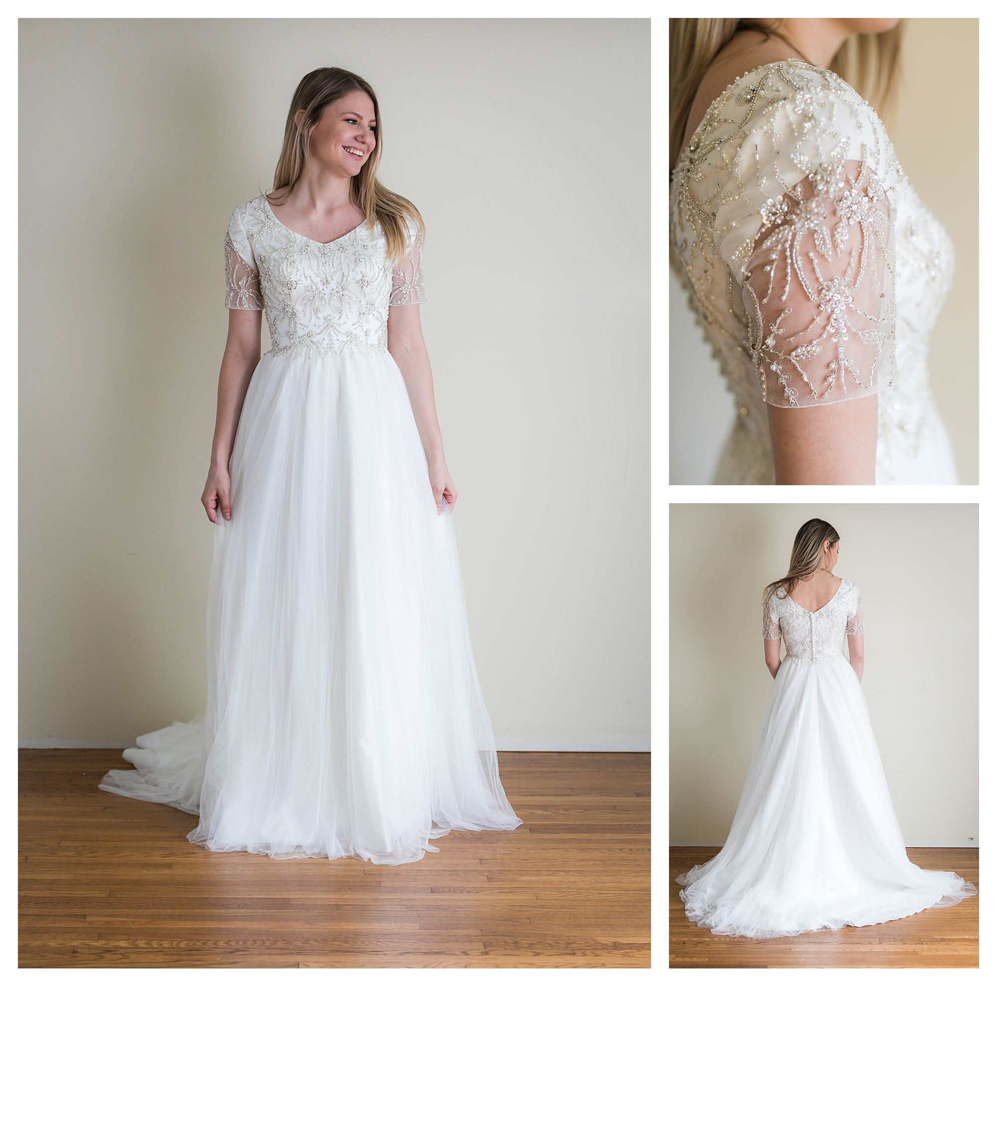 Saga - Size 8 - Ivory - Originally priced $1899 - Sample box price $1299