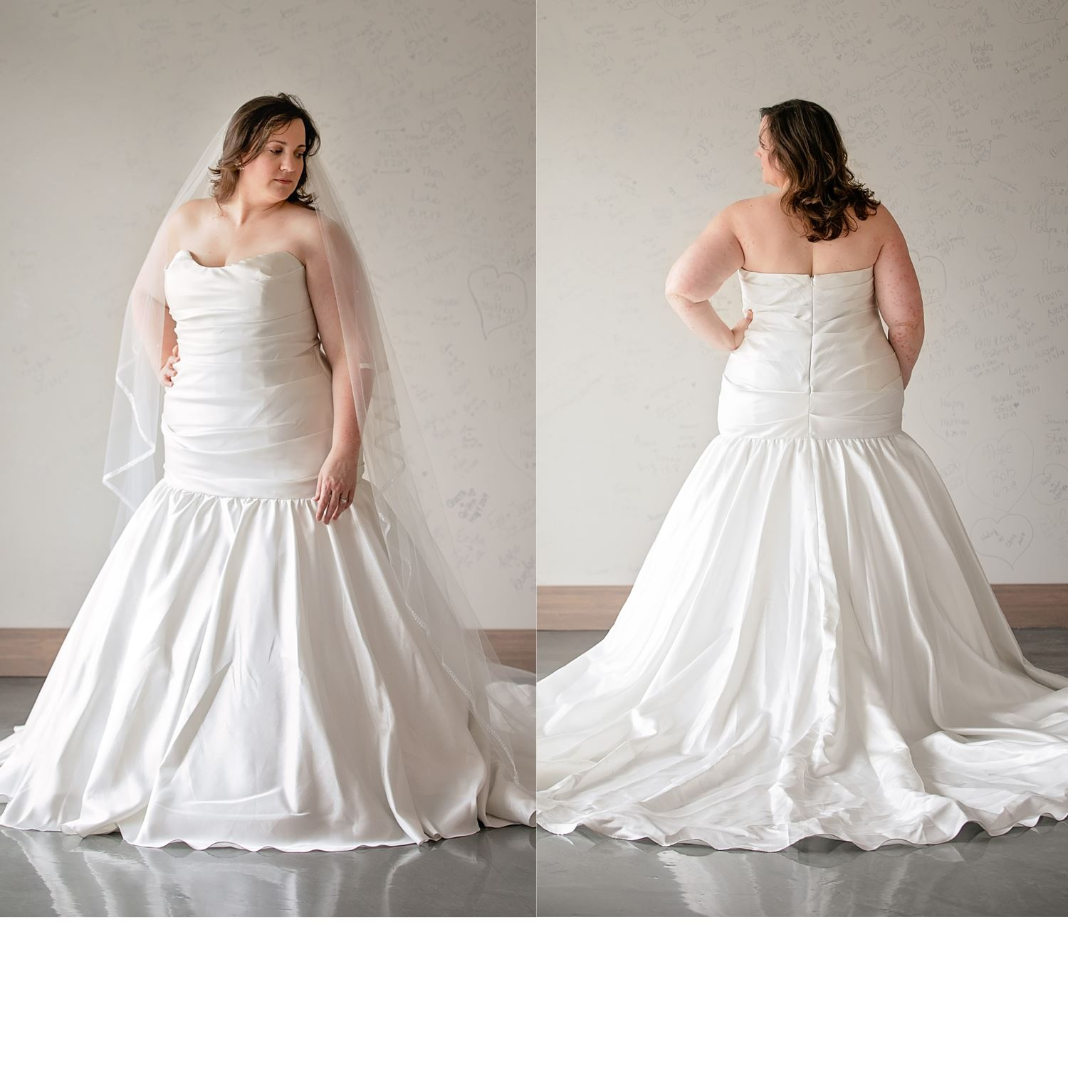 Kiki - Size 22 - Diamond White - Originally priced $1199 - Sample box price $799