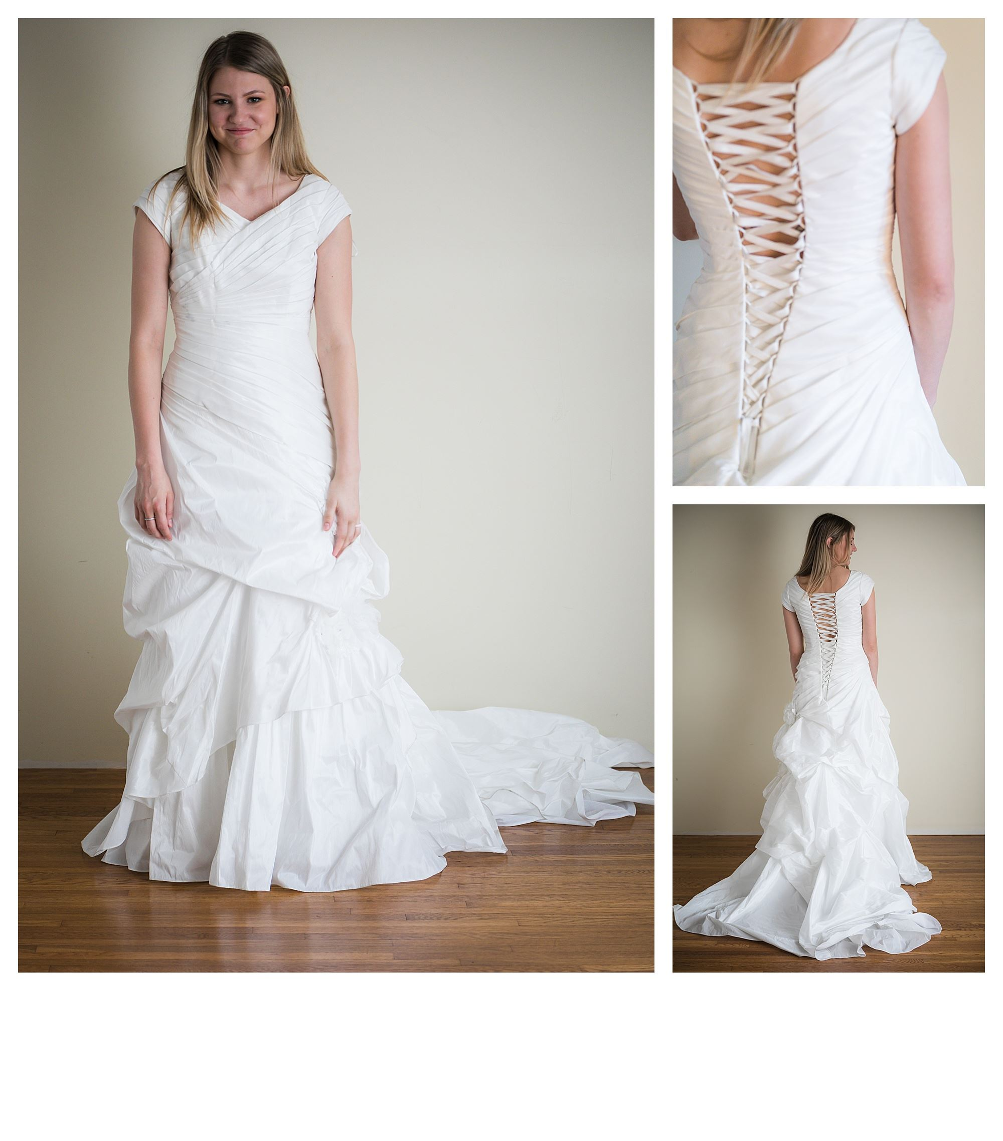 Sianna - Size 8 - Diamond White - Originally priced $999 - Sample box price $699