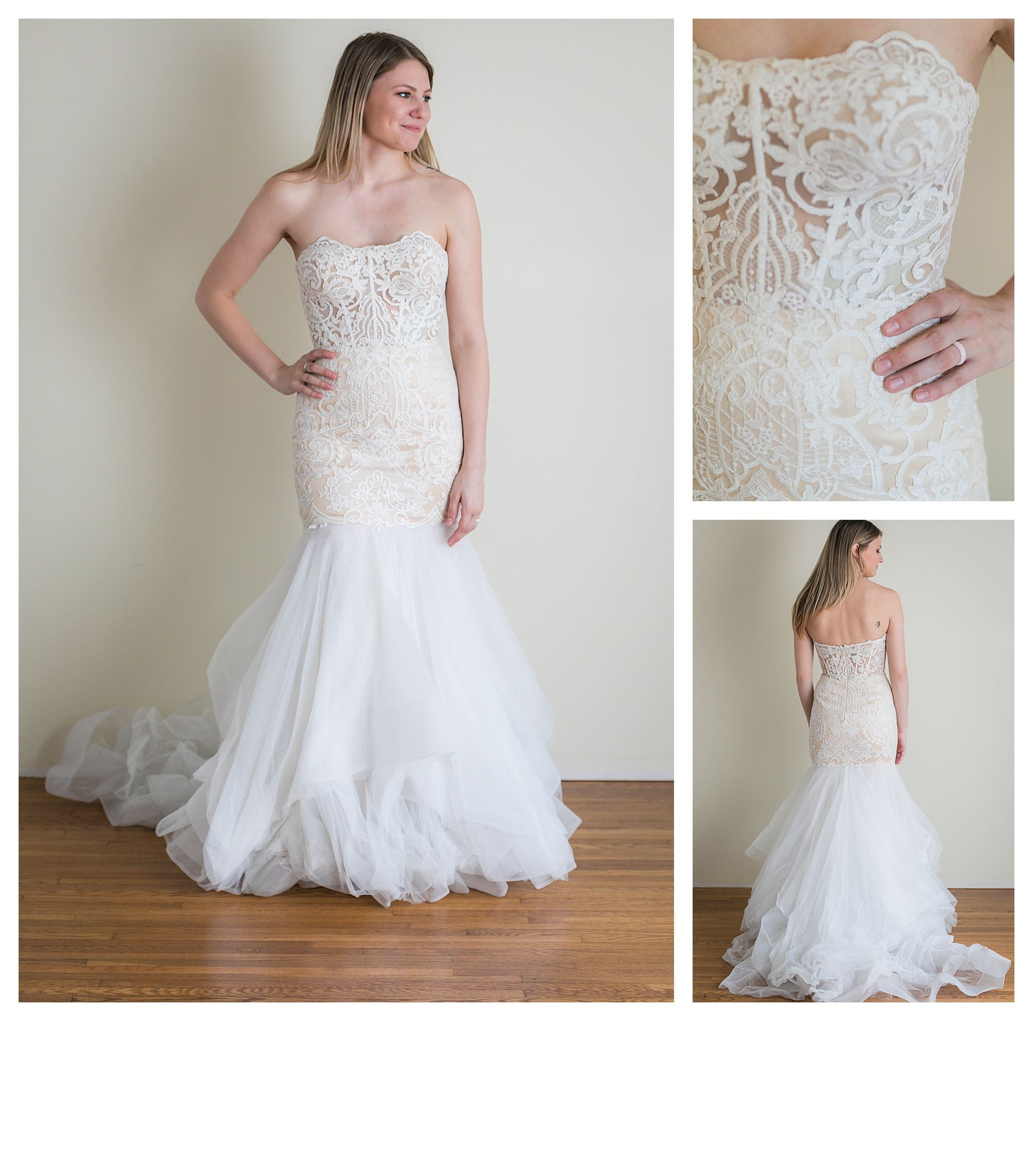 Sherry - Size 8 - Ivory/Lt Nude - Originally priced $1699 - Sample box price $1199